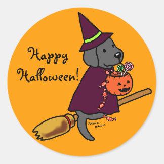 Halloween Black Labrador Cartoon 1 Sticker