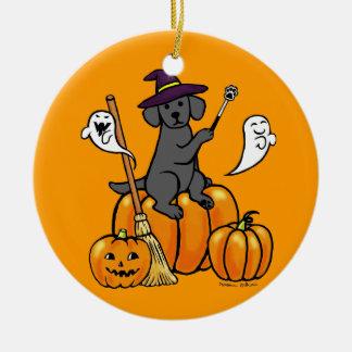 Halloween Black Labrador Cartoon 2 Ornament