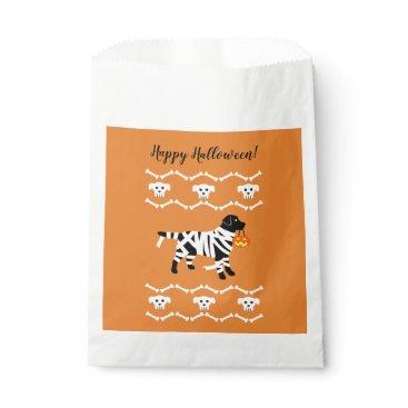 Halloween Themed Halloween Black Labrador Mummy Favor Bag