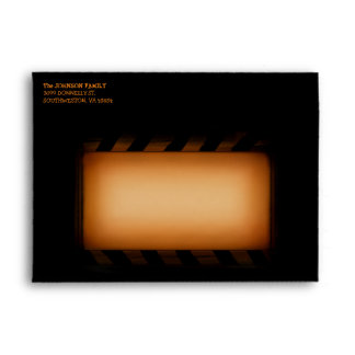 Halloween Black & Orange Happy Halloween Envelope