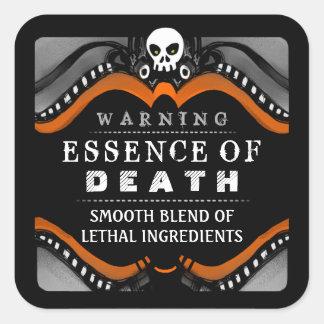 Halloween Black Orange White Drink or Treat Label