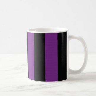 Halloween Black Purple Striped Gift Mug