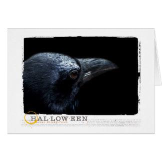Halloween black raven card