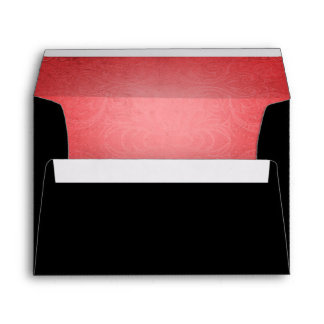 Halloween Black Red Orange Wedding Envelope