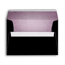 Halloween Black Rose Purple Wedding Envelope