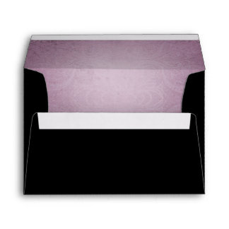 Halloween Black Rose Purple Wedding Envelope
