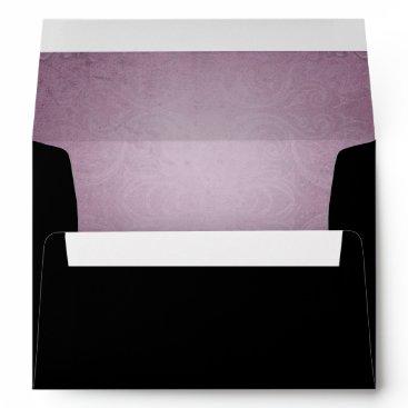 Halloween Themed Halloween Black Rose Purple Wedding Envelope