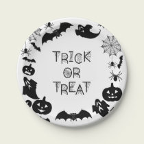 Halloween Black Silhouettes Paper Plates