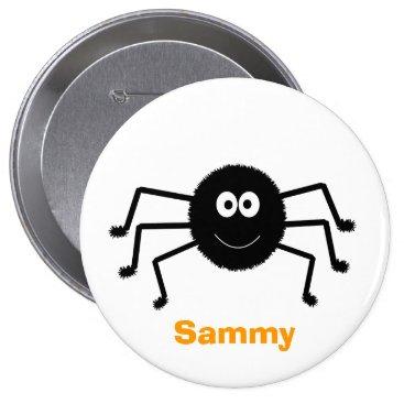 Halloween Black Spider Cute Button
