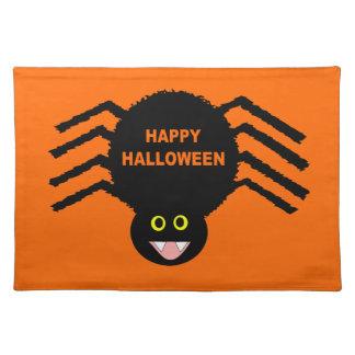 Halloween Black Spider Placemat