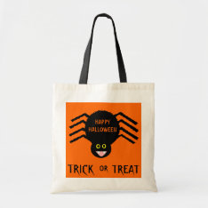 Halloween  Black Spider Trick Or Treat Bag at Zazzle