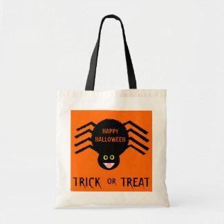 Halloween  Black Spider Trick or Treat Bag
