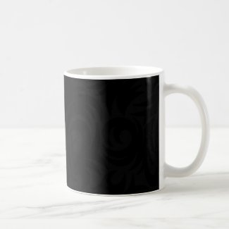 Halloween Black Swirl Decoration Witch Black Coffee Mug