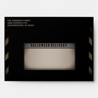 Halloween Black & Tan Halloween Party Envelope