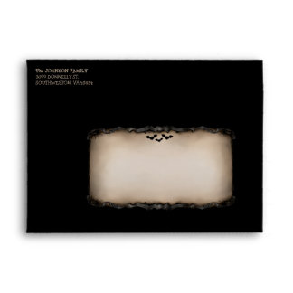 Halloween Black & Tan Happy Halloween Envelope