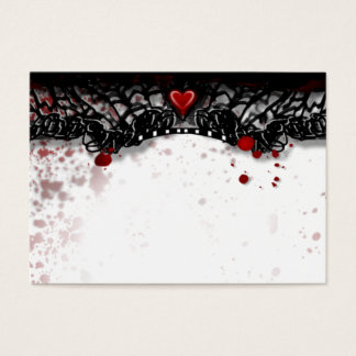 Halloween Black & White BLANK Blood Splatter Place Business Card