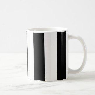 Halloween Black White Striped Gift Mug