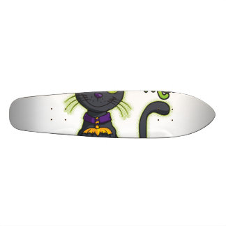 Halloween Black Witch Cat Trick or Treat Skateboard Deck