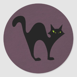 Halloween blackcat sticker