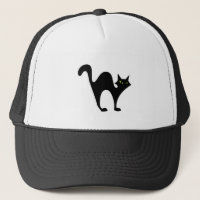 Halloween blackcat trucker hat