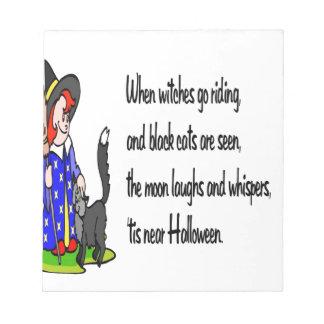 Halloween Bloc De Notas