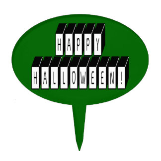 Halloween Block Text Cake Topper