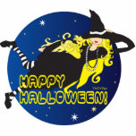 halloween blonde  witch cut outs