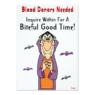 Halloween- Blood Donors Needed Card