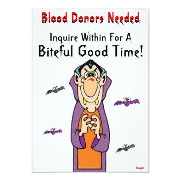 Halloween Themed Halloween- Blood Donors Needed Card