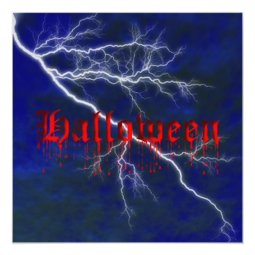 Halloween Themed Halloween Blood Dripping Invitation Template