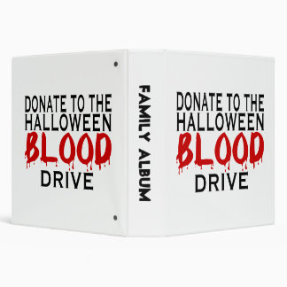 Halloween Blood Drive 3 Ring Binder