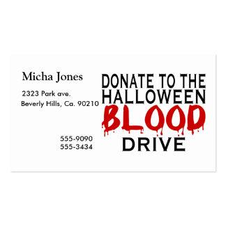 Halloween Blood Drive Business Card