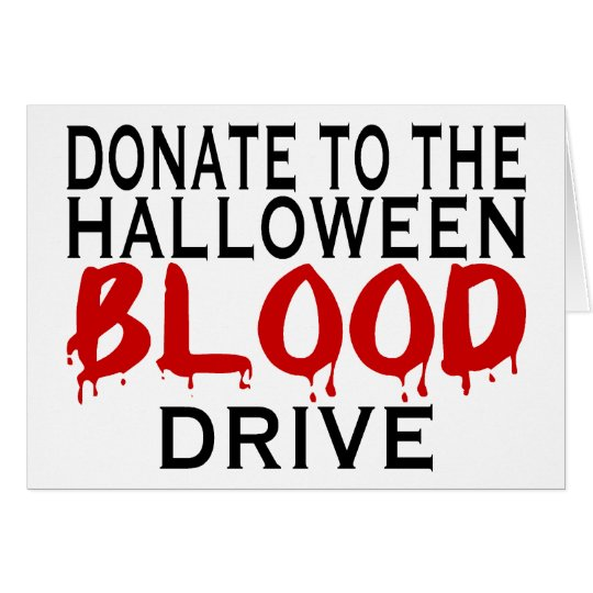 Halloween Blood Drive Card