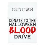 Halloween Blood Drive Custom Invites