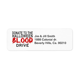 Halloween Blood Drive Label