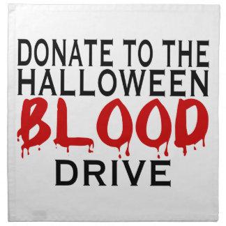 Halloween Blood Drive Napkin