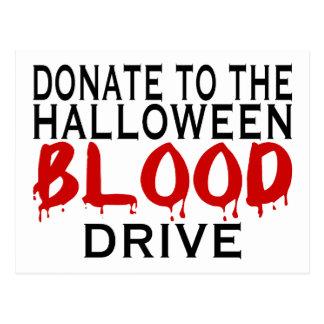 Halloween Blood Drive Postcard
