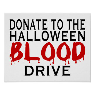 Halloween Blood Drive Poster