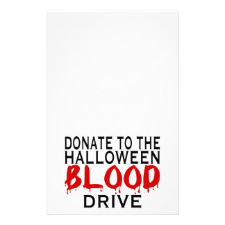 Halloween Blood Drive Stationery
