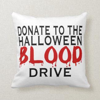 Halloween Blood Drive Throw Pillow