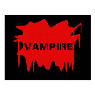 Halloween Blood Splat - Change Text! Postcard