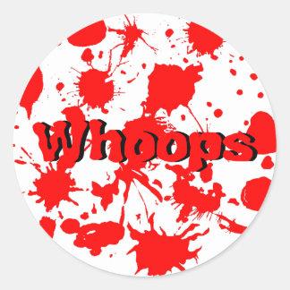 Halloween Blood Splatter Round Sticker