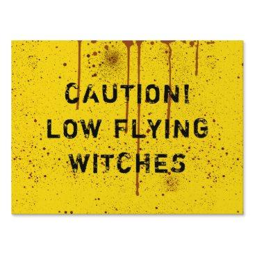 Halloween Themed Halloween Blood Splattered Caution Yard Sign
