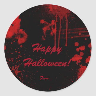 Halloween Blood Splatters Costume Party Favor Classic Round Sticker
