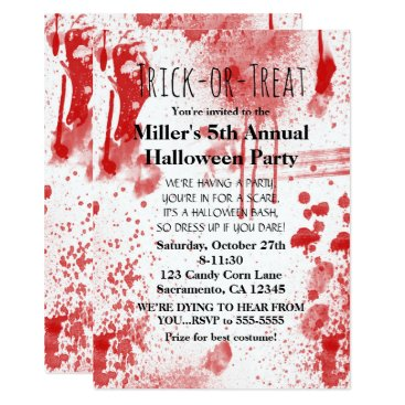 printabledigidesigns Halloween Blood Splatters Costume Party Invitation