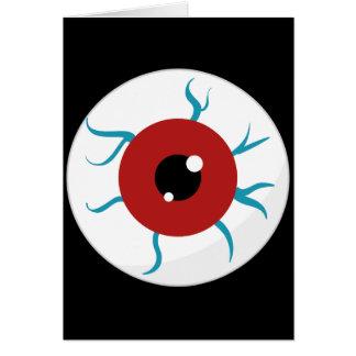 Halloween Bloodshot Eyeball Stationery Note Card