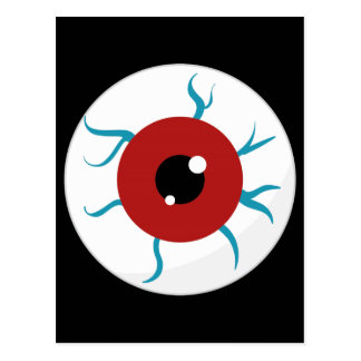 Halloween Bloodshot Eyeball Post Card