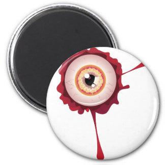 Halloween Bloody Eyeball2 2 Inch Round Magnet