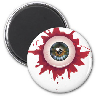 Halloween Bloody Eyeball3 2 Inch Round Magnet