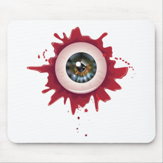Halloween Bloody Eyeball3 Mouse Pad